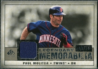 2008 Upper Deck SP Legendary Cuts Legendary Memorabilia Taupe #PM2 Paul Molitor /10