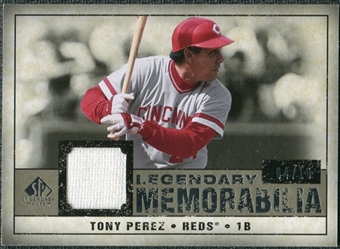 2008 Upper Deck SP Legendary Cuts Legendary Memorabilia Taupe Parallel #TP Tony Perez /10