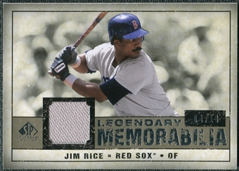 2008 Upper Deck SP Legendary Cuts Legendary Memorabilia Taupe Parallel #RI Jim Rice /10