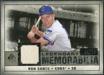 2008 Upper Deck SP Legendary Cuts Legendary Memorabilia Taupe #SA Ron Santo /10