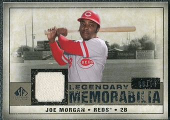 2008 Upper Deck SP Legendary Cuts Legendary Memorabilia Taupe #JM Joe Morgan /10