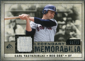 2008 Upper Deck SP Legendary Cuts Legendary Memorabilia Taupe Parallel #CY Carl Yastrzemski /10