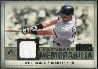 2008 Upper Deck SP Legendary Cuts Legendary Memorabilia Taupe #WC Will Clark /10