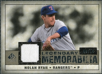 2008 Upper Deck SP Legendary Cuts Legendary Memorabilia Taupe #NR Nolan Ryan /10