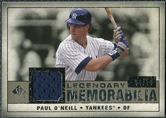 2008 Upper Deck SP Legendary Cuts Legendary Memorabilia Taupe Parallel #PO Paul O'Neill /10