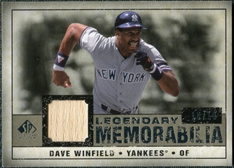 2008 Upper Deck SP Legendary Cuts Legendary Memorabilia Taupe Parallel #DW Dave Winfield /10