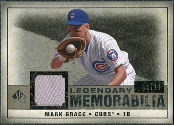 2008 Upper Deck SP Legendary Cuts Legendary Memorabilia Taupe Parallel #MG Mark Grace /10