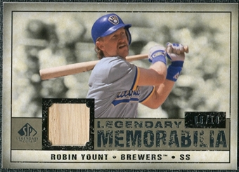 2008 Upper Deck SP Legendary Cuts Legendary Memorabilia Taupe #RY Robin Yount /10