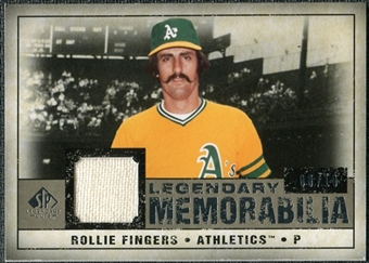 2008 Upper Deck SP Legendary Cuts Legendary Memorabilia Taupe Parallel #RF Rollie Fingers /10