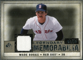 2008 Upper Deck SP Legendary Cuts Legendary Memorabilia Taupe Parallel #WB2 Wade Boggs /10