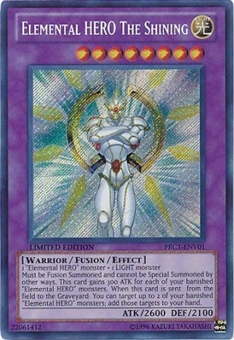 Yu-Gi-Oh Limited Edition Tin Single Elemental HERO The Shining Secret Rare PRC1