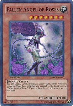 Yu-Gi-Oh Limited Edition Tin Single Fallen Angel of Roses Super Rare 3x Lot