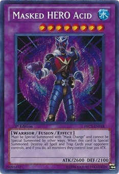 Yu-Gi-Oh Limited Edition Tin Single Masked HERO Acid Secret Rare - NEAR MINT (NM)