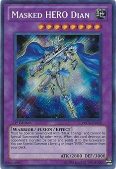 Yu-Gi-Oh Limited Edition Tin Single Masked HERO Dian Secret Rare