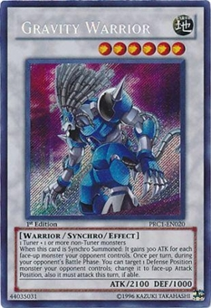 Yu-Gi-Oh Limited Edition Tin Single Gravity Warrior Secret Rare