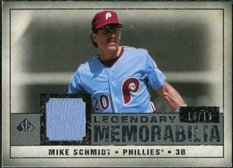 2008 Upper Deck SP Legendary Cuts Legendary Memorabilia Gray Parallel #MS Mike Schmidt /15