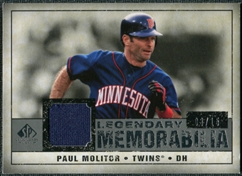 2008 Upper Deck SP Legendary Cuts Legendary Memorabilia Gray #PM2 Paul Molitor /15