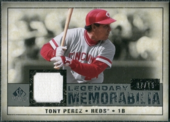 2008 Upper Deck SP Legendary Cuts Legendary Memorabilia Gray #TP Tony Perez /15