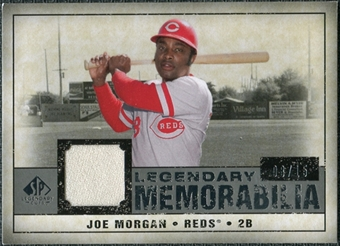2008 Upper Deck SP Legendary Cuts Legendary Memorabilia Gray Parallel #JM Joe Morgan /15