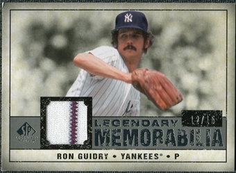 2008 Upper Deck SP Legendary Cuts Legendary Memorabilia Gray #RG Ron Guidry /15