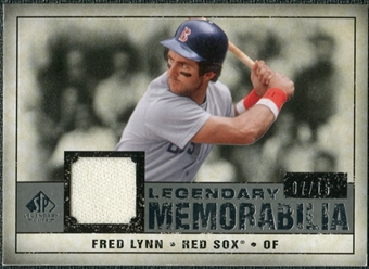 2008 Upper Deck SP Legendary Cuts Legendary Memorabilia Gray #FL Fred Lynn /15