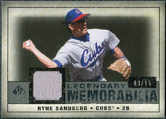 2008 Upper Deck SP Legendary Cuts Legendary Memorabilia Gray #RS Ryne Sandberg /15