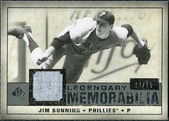 2008 Upper Deck SP Legendary Cuts Legendary Memorabilia Gray Parallel #JB Jim Bunning /15