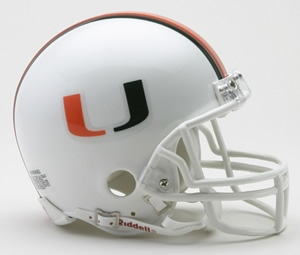 University of Miami Authentic Full Size Football Helmet