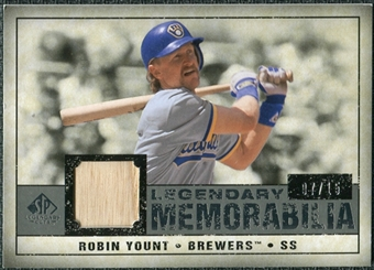 2008 Upper Deck SP Legendary Cuts Legendary Memorabilia Gray #RY Robin Yount /15