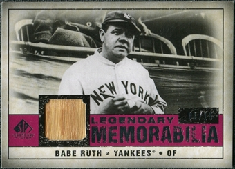 2008 Upper Deck SP Legendary Cuts Legendary Memorabilia Red Parallel #BR Babe Ruth /15