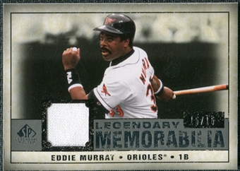 2008 Upper Deck SP Legendary Cuts Legendary Memorabilia Gray Parallel #EM Eddie Murray /15