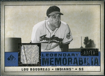 2008 Upper Deck SP Legendary Cuts Legendary Memorabilia Dark Blue #LB Lou Boudreau 9/15