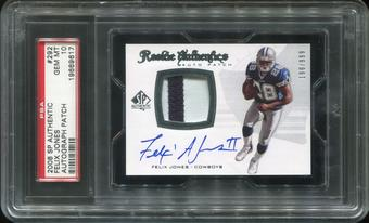 2008 SP Authentic #292 Felix Jones III Rookie Patch Autograph PSA 10 Gem Mint