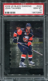 2009/10 Upper Deck Black Diamond #222 John Tavares RC PSA 10 Gem Mint