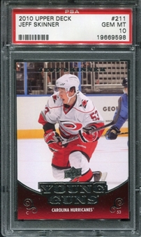 2010/11 Upper Deck #211 Jeff Skinner RC PSA 10 Gem Mint