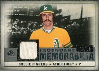 2008 Upper Deck SP Legendary Cuts Legendary Memorabilia Gray #RF Rollie Fingers /15