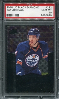 2010/11 Upper Deck Black Diamond #222 Taylor Hall RC PSA 10 Gem Mint