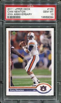 2011 Upper Deck 20th Anniversary #20A164 Cam Newton RC PSA 10 Gem Mint