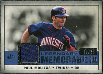 2008 Upper Deck SP Legendary Cuts Legendary Memorabilia Dark Blue Parallel #PM2 Paul Molitor /25