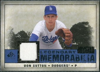 2008 Upper Deck SP Legendary Cuts Legendary Memorabilia Dark Blue #DS Don Sutton /25