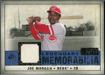 2008 Upper Deck SP Legendary Cuts Legendary Memorabilia Dark Blue #JM Joe Morgan /25