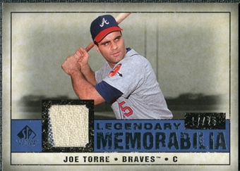 2008 Upper Deck SP Legendary Cuts Legendary Memorabilia Dark Blue #JT Joe Torre /25