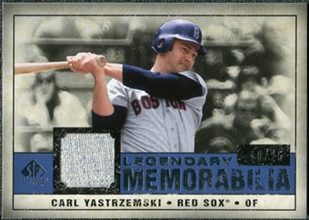 2008 Upper Deck SP Legendary Cuts Legendary Memorabilia Dark Blue #CY Carl Yastrzemski /25