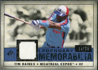2008 Upper Deck SP Legendary Cuts Legendary Memorabilia Dark Blue #TR Tim Raines 14/25