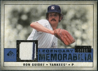 2008 Upper Deck SP Legendary Cuts Legendary Memorabilia Dark Blue #RG Ron Guidry /25