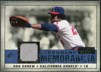 2008 Upper Deck SP Legendary Cuts Legendary Memorabilia Dark Blue Parallel #CA Rod Carew /25