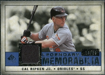 2008 Upper Deck SP Legendary Cuts Legendary Memorabilia Dark Blue #CR2 Cal Ripken Jr. /25