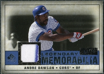 2008 Upper Deck SP Legendary Cuts Legendary Memorabilia Dark Blue #AD Andre Dawson /25