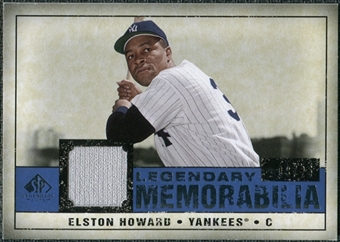 2008 Upper Deck SP Legendary Cuts Legendary Memorabilia Dark Blue Parallel #EH Elston Howard /25