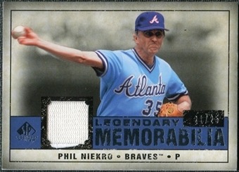 2008 Upper Deck SP Legendary Cuts Legendary Memorabilia Dark Blue Parallel #PN Phil Niekro /25
